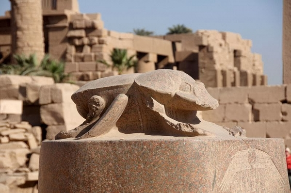The kheper Scarab at Karnak Temples